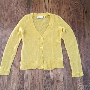 Mohair mustard color cardigan